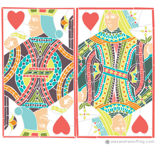 Stained Glass Playing Cards Illustration